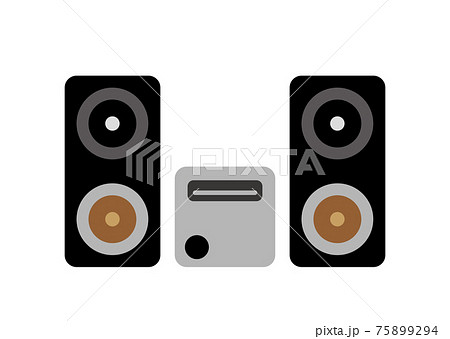 オーディオセットのイラスト 75899294
