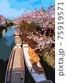 福岡県柳川市乗船場の桜 75919571
