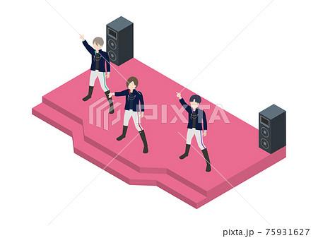 男性アイドルグループのイラスト素材 75931627
