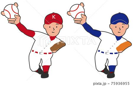 野球 投手 フォークボール セット 75936955