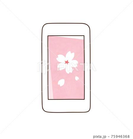 スマホ 桜の花 75946368