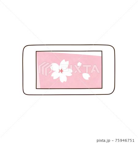 スマホ 桜の花 75946751