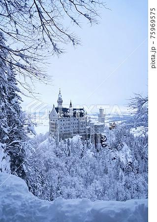 ドイツの冬のノイシュバンシュタイン城 75969575