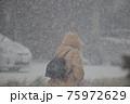 吹雪の歩く人 75972629