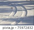 冬のタイヤ足跡 75972832