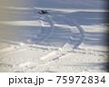 冬のタイヤ足跡 75972834