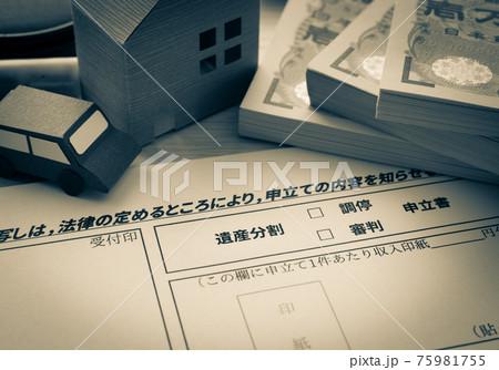 遺産分割調停 家事調停 相続 家庭裁判所 調停 審判 申立書 75981755