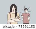 Breakup, divorce and quarrelling concept 75991153