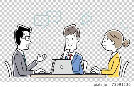 矢量圖素材:會議團隊,商業場景 75991530