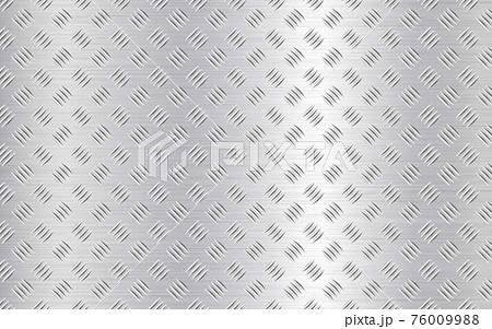 Diamond plate background. Realistic metal texture. Industrial construction. Silver steel or aluminum sheet. Iron material effect. Vector illustration 76009988