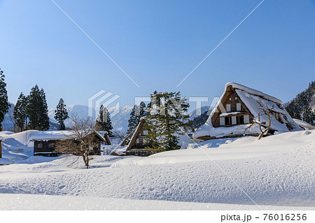 富山・五箇山・世界遺産・雪の相倉合掌集落 76016256
