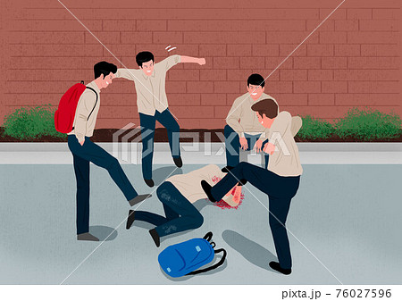 Crime, violence, accident concept illustration 010 76027596