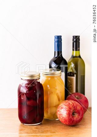 林檎の自家製コンポート・白ワイン煮と赤ワイン煮 76036452