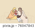 Traditional muslim family lifestyle concept 76047843