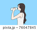 Drinking water and healthy lifestyle concept 76047845
