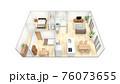 家の俯瞰CGパース 76073655