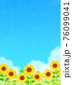 背景素材_ひまわり 青空 76099041