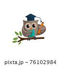 Owl bird template design Smart Education with Owl Symbol 76102984