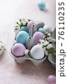 Easter eggs and flower 76110235