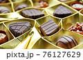Belgian pralines selection 76127629