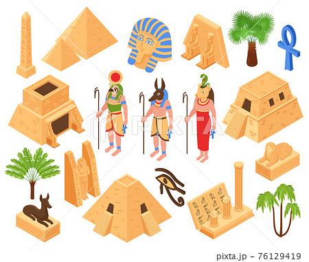 Egypt Isometric Set 76129419