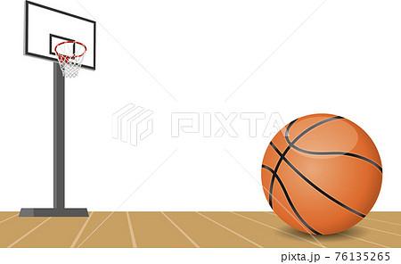 バスケットボールとゴールのイメージイラスト 76135265
