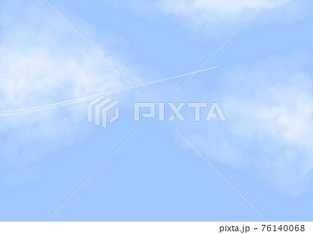 青空と飛行機雲 76140068
