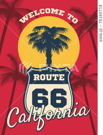 California beach seashore theme dream background, postcard design 76160758