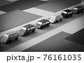 連なる自動車 交通渋滞 車 田舎 観光地 帰省 地方 田園地帯 76161035