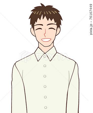 笑う男性のイラスト 76167449