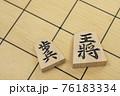 将棋の駒 王将と歩兵 76183334