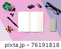 Notebook with office supplies 76191818