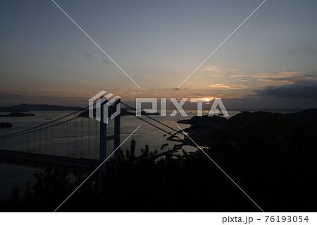 日本の岡山県倉敷市の鷲羽山の景色 76193054