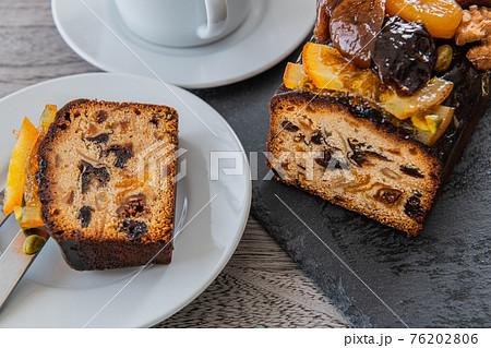 パウンドケーキ クローズアップ素材 76202806