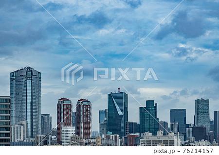恵比寿 広尾 港区 渋谷区 深夜 午後 午前 早朝 曇り 雲 都心 東京 オフィス 住居 レジデンス 76214157