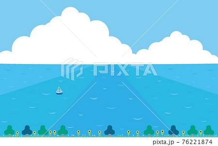 夏の素材2021(海風景)3 76221874