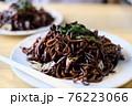 日本三大焼きそばである上州太田焼きそば。真っ黒な麺。具材はキャベツだけ。食べやすくお箸が止まらない。 76223066
