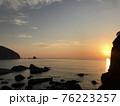 熊本県天草の海に沈む夕日・夕焼け 76223257