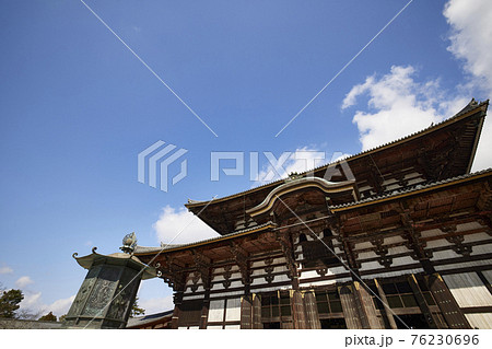 奈良東大寺の大仏殿 76230696