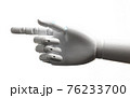 White robot hand finger point 76233700
