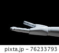 White robot hand open isolated 76233793