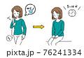 尿もれトレーニングをする女性のイラスト 76241334
