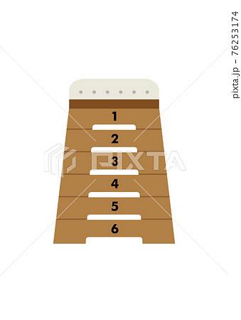 跳び箱のイラスト 76253174