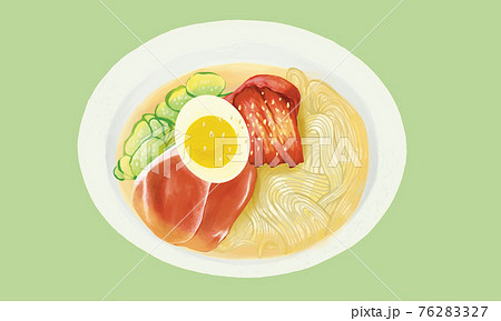 手描き風冷麺イラスト 76283327