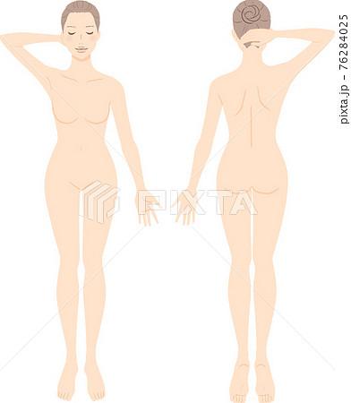 女性 美容 全身イラストセット 76284025