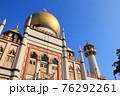 快晴の青空とサルタン・モスク(シンガポール) 76292261