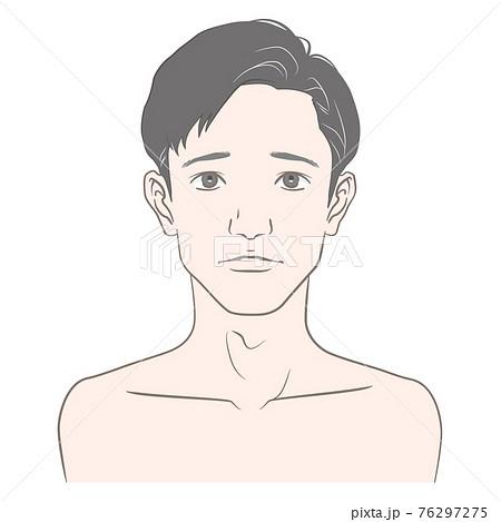 白髪が気になる20代から30代前半くらいの男性のイメージイラスト 76297275
