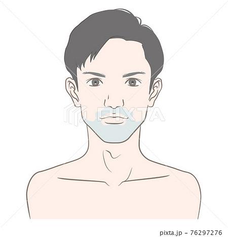 20代から30代前半くらいの青髭の男性のイメージイラスト 76297276