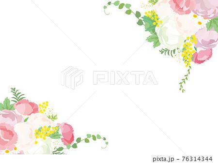 花束フレーム 背景イラスト 76314344