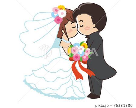 新郎新婦の誓いのキス 結婚式 76331306